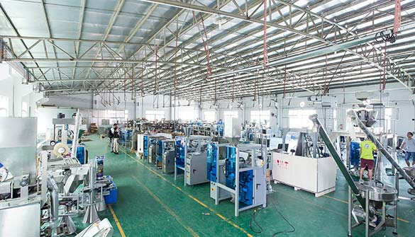Automatic weighing supporting packaging system workshop