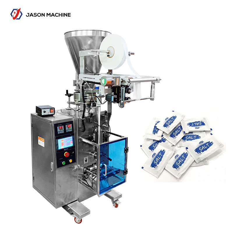 Low price automatic iodized small salt packing machine automaatic plastic rock salt packaging machinery bag