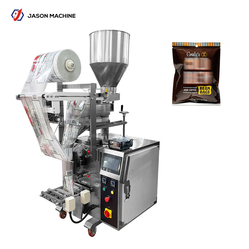 Fully automatic vertical coffee beans packing machine with measuring cups