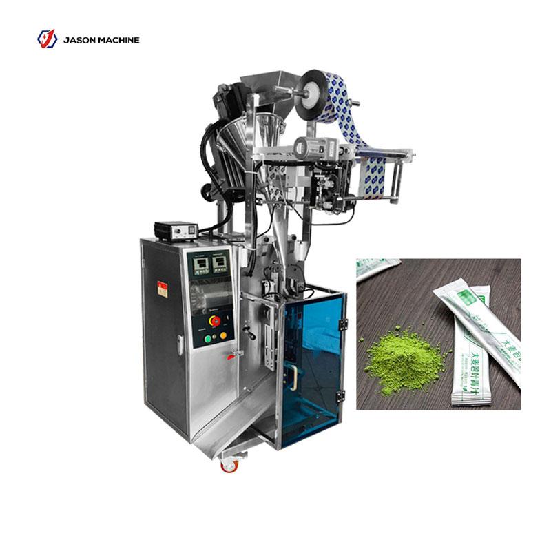 Automatic stick pouch wheatgrass powder protein powder packing machine