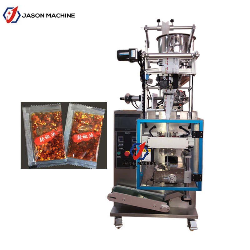 Vertical cooking oil chili sauce automatic liquid packing machine