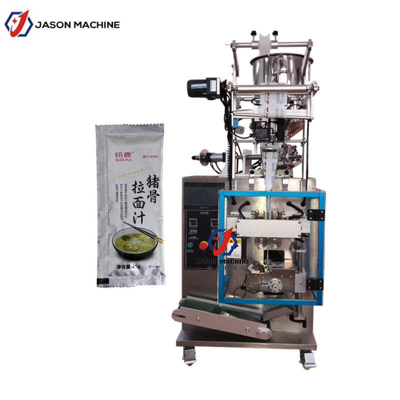 Automatically meat sauce ported meat paste sachet packing machine