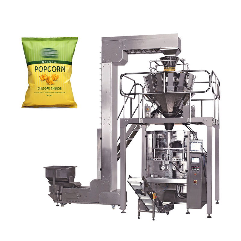 Automatic popcorn/cashew nut/banana potato chips packing machine price