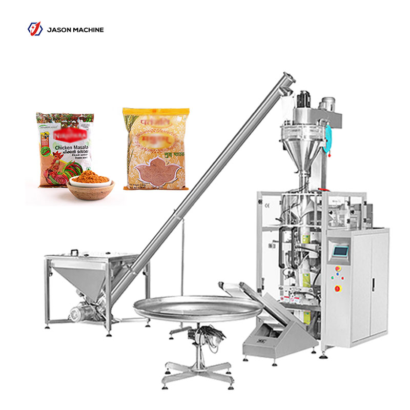 Automatic pouch packing machine for masala powder jaggery powder packing