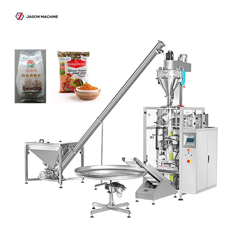Automatic wheat flour masala powder packing machine with auger filler