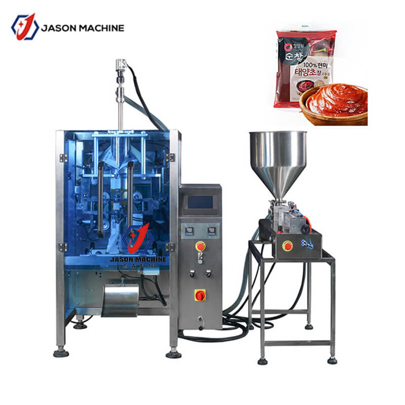 Automatic chutney pouch bag filling packing machine