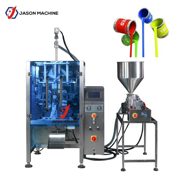 Automatic latex paint packing machine