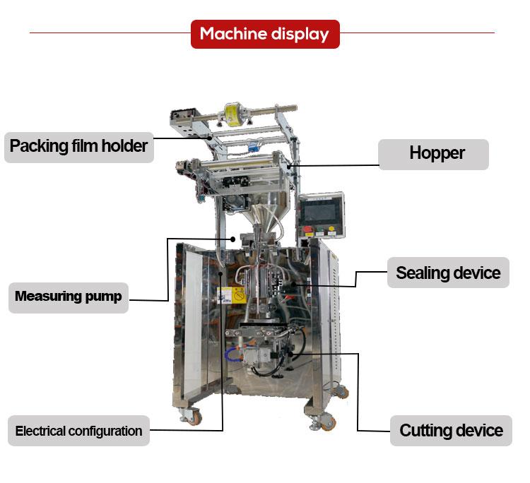 Automatic Blueberry Jam Sauce Sachet Paper Round Corner Packing Machine