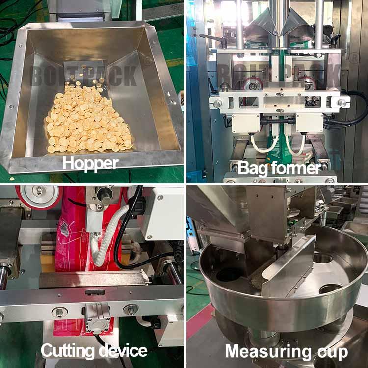 Back seal packer PE film sugar granules bag packing machine/sealing machine