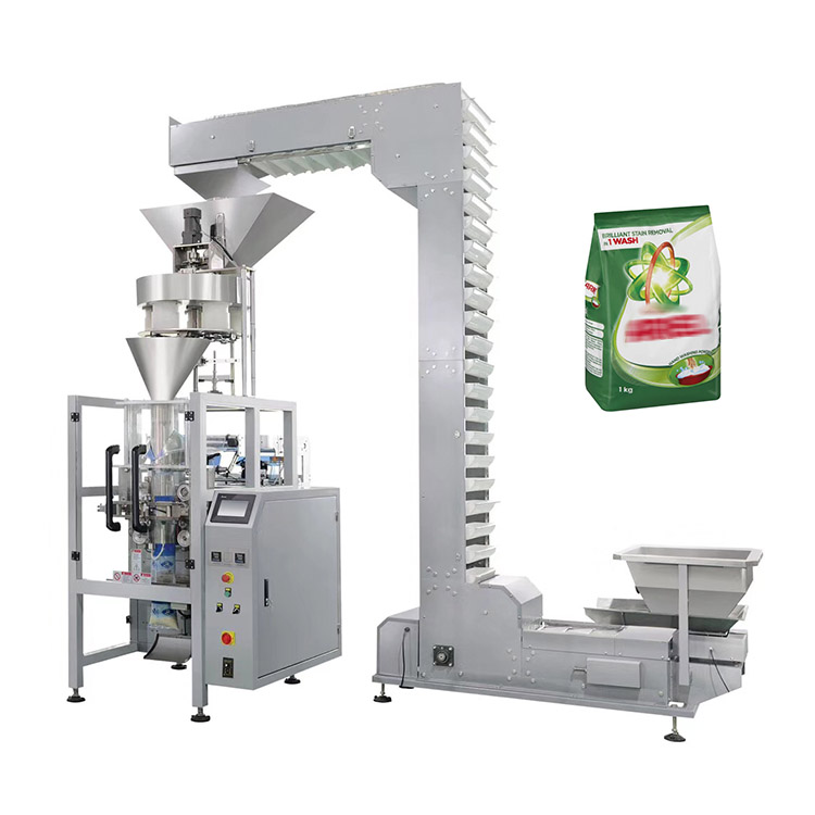Automatic vertical back sides sealing washing powder detergent packaging machine
