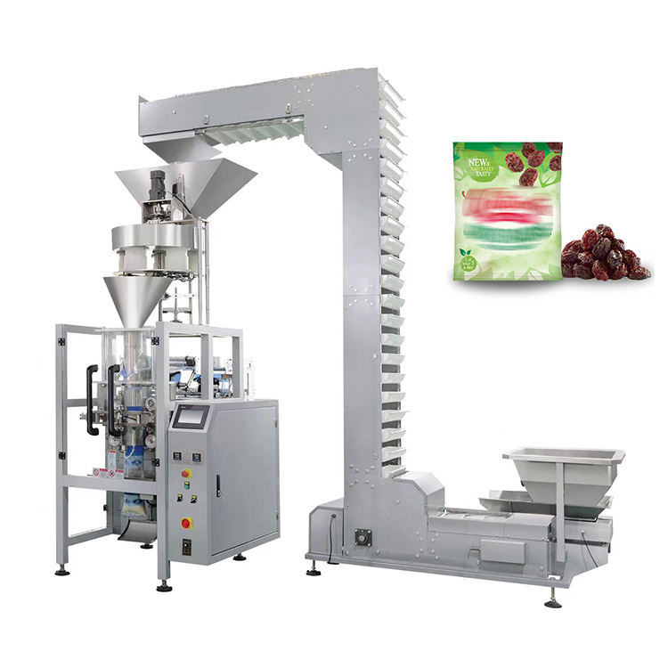 Automatic sugar filling snacks bag pouch granule vertical packaging machine