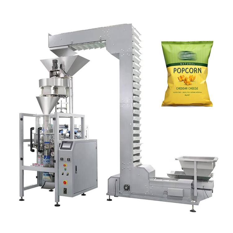 Automatic pillow bag or gusset bag microwave popcorn packing machine nitrogen filling