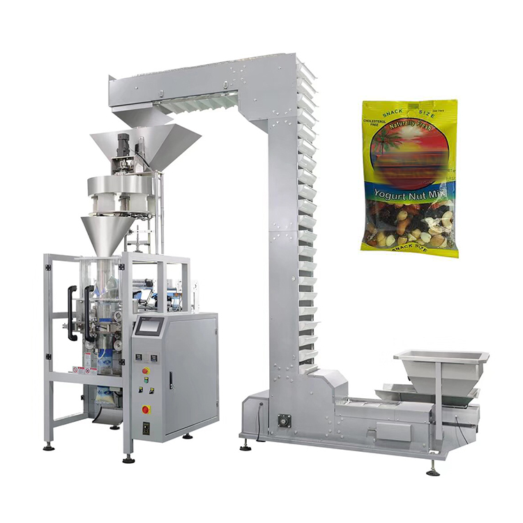 Volumetric cups filling dry vegetable and fruit packing machine automatic