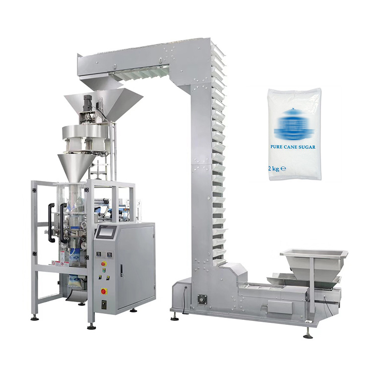 High speed automatic pouch 5kg salt sugar packing machine