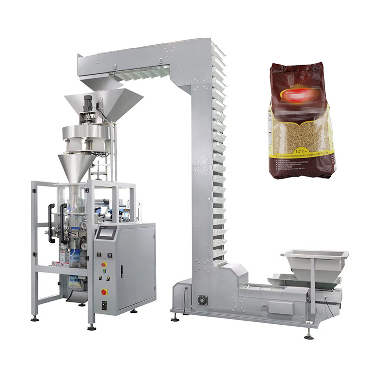 Fully automatic 1kg 5kg cooked rice sugar packing machine