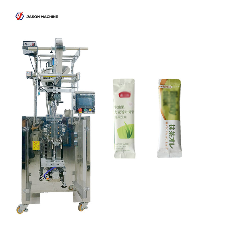 Full automatic round corner pouch medical powder tea powder packing machine