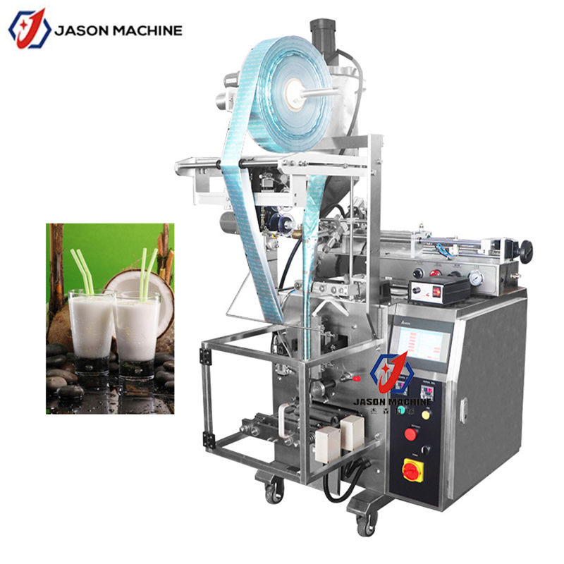 4 sides seal packet coconut oil filling and sealing machine