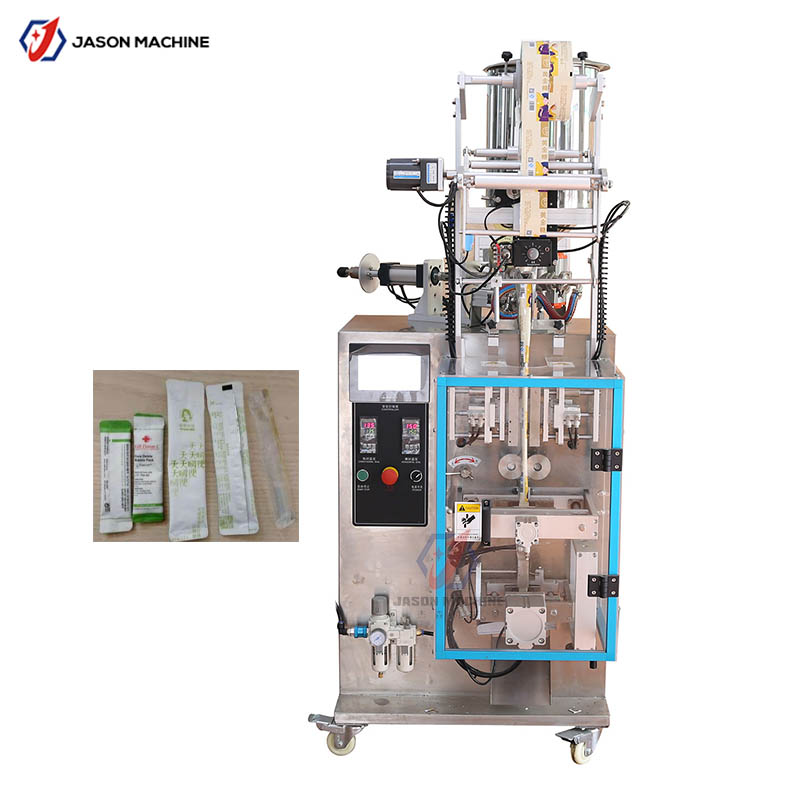 Fruit shape juice pouch filling sealing packaging machine