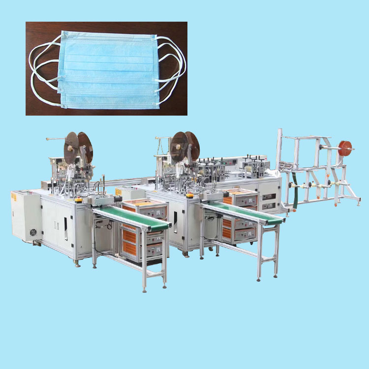 Automatic surgical medical face mouth mask making machine