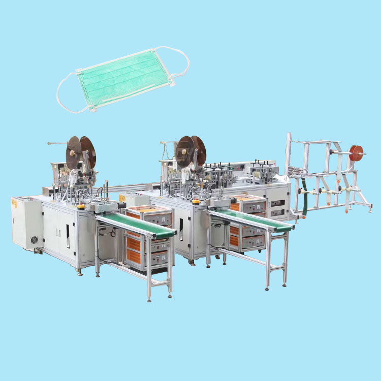 Full automatic surgical face medical mask making machine