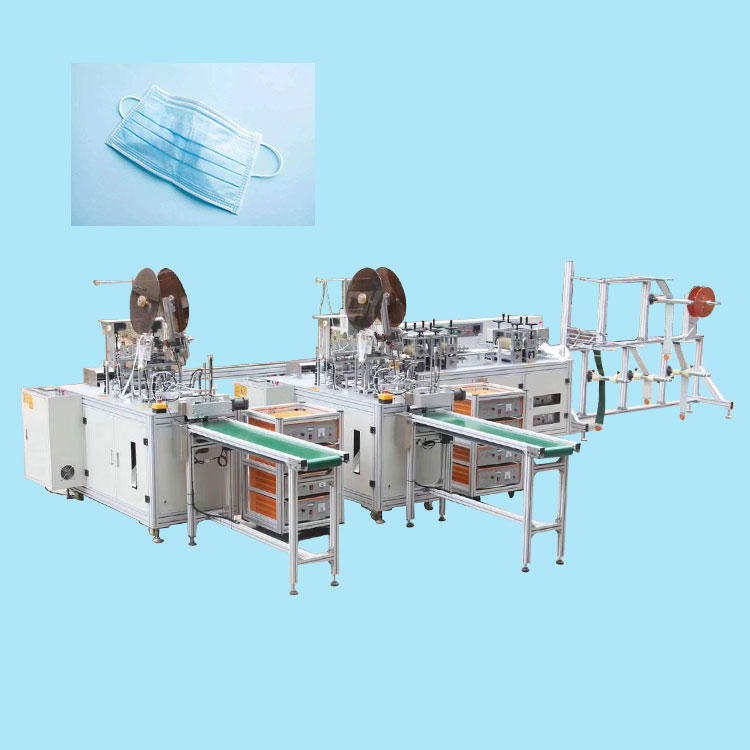Automatic 3 ply face medical mask making machine