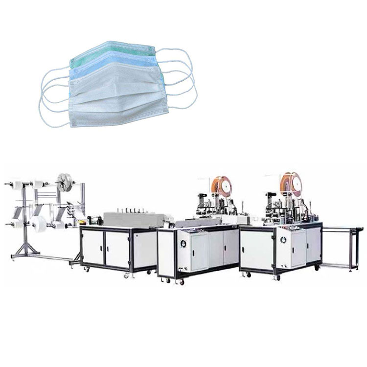 Automatic nonwoven face medical mask making machine