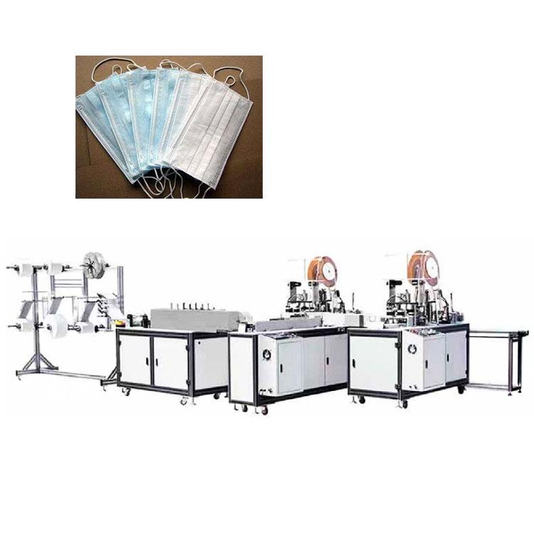 Automatic surgical face medical mask manufactuiring making machine