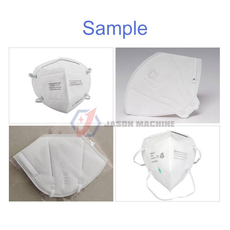 semi auto disposable medical 3 layer mask making machine n95