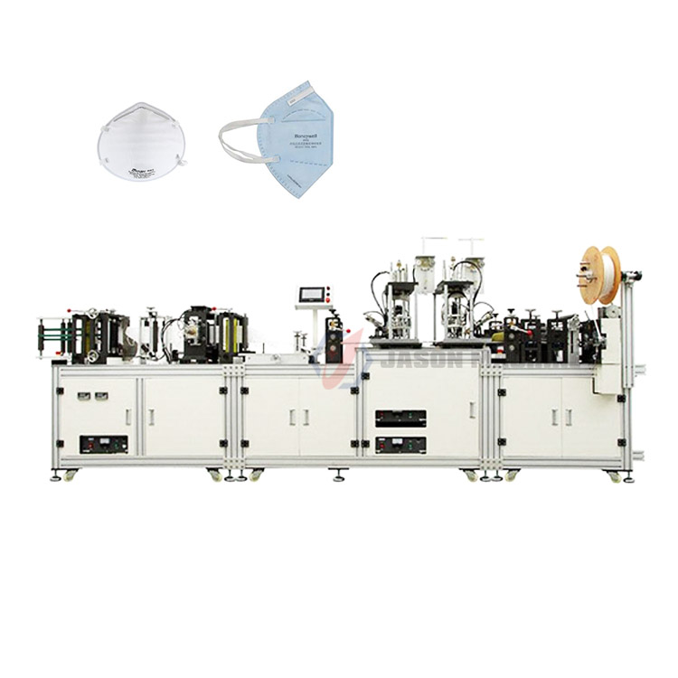Automatic n95 surgical respirator disposable face mask making machine