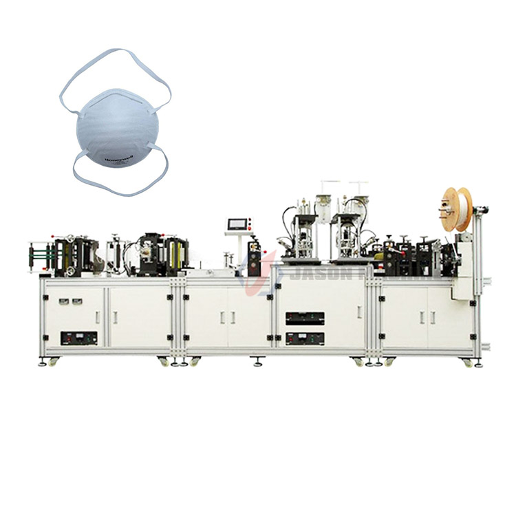 automatic n95 dust medical mask making machinery
