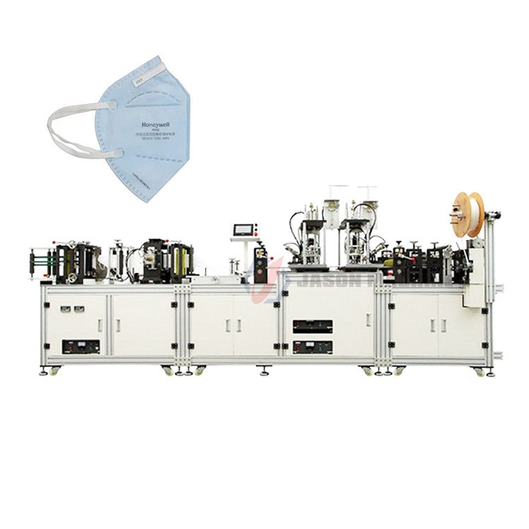 Automatic face n95 earloop medical mask making machine
