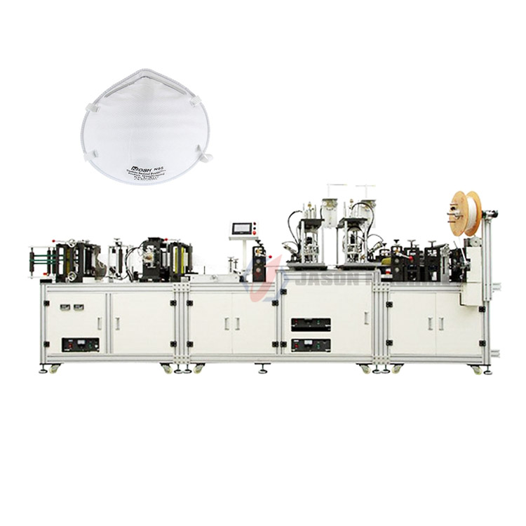 Fully automatic n95 medical mask produce making machine