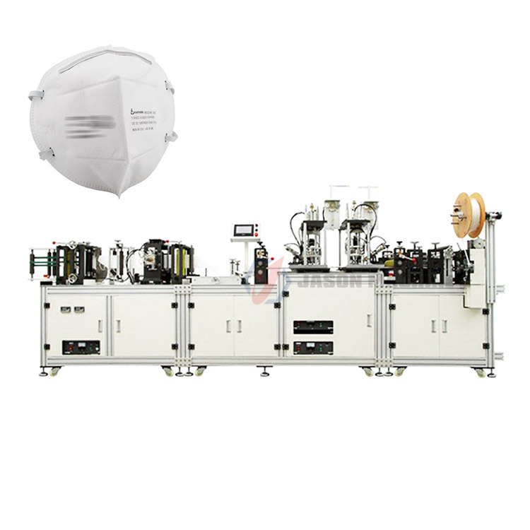 Automatic medical n95 folding face non woven dustproof folring mask machine