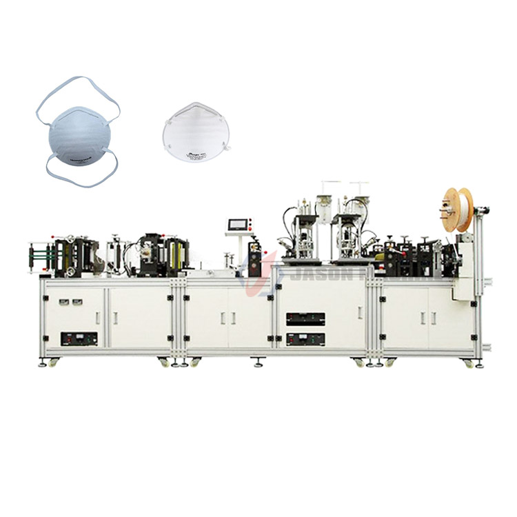 Automatic disposable medical n95 mask making machine