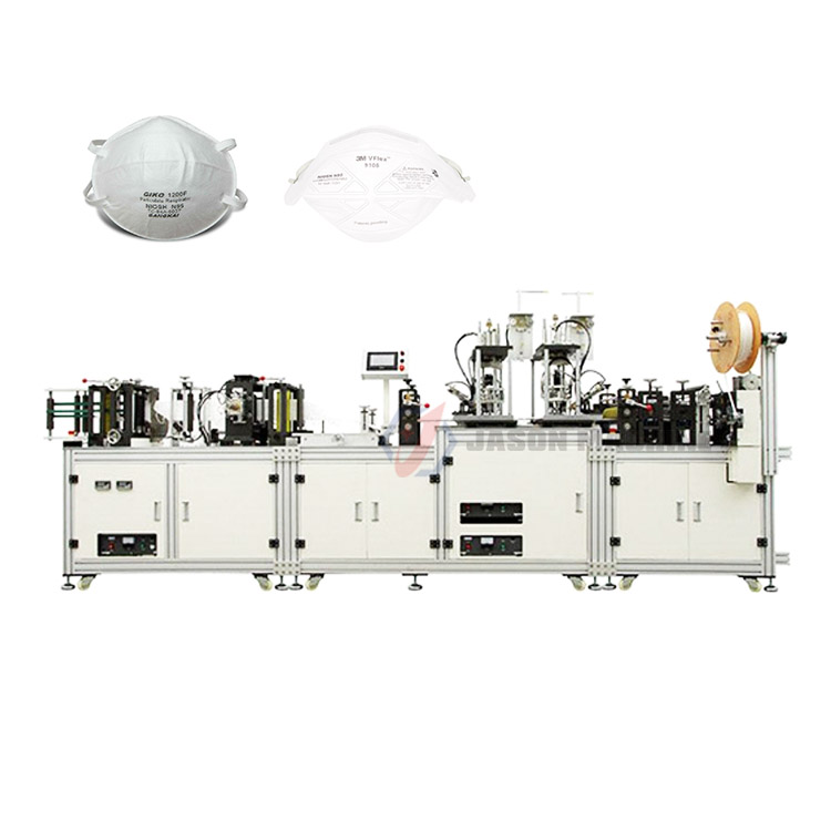 Automatic n95 medical face masks making machine