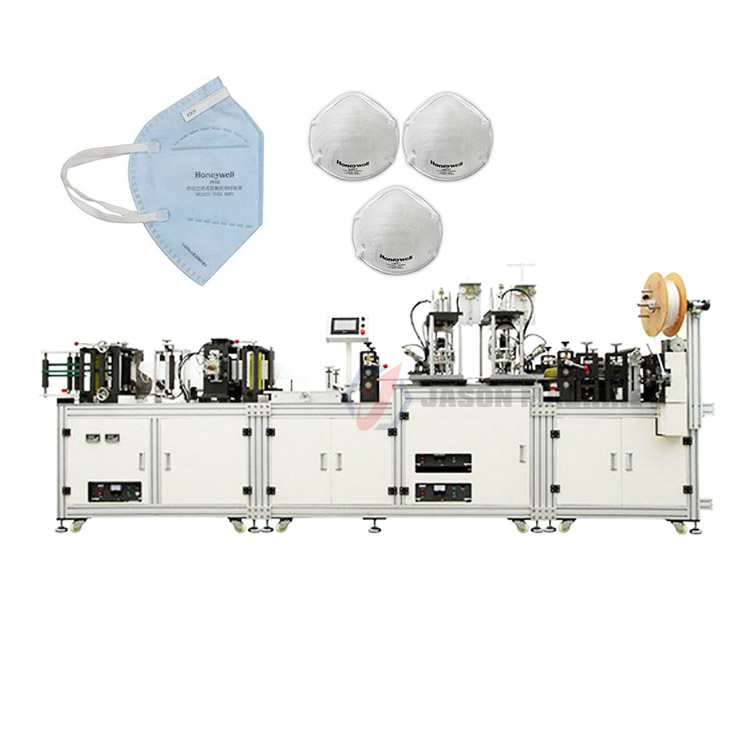 Automatic non woven surgical n95 medical mask making machines