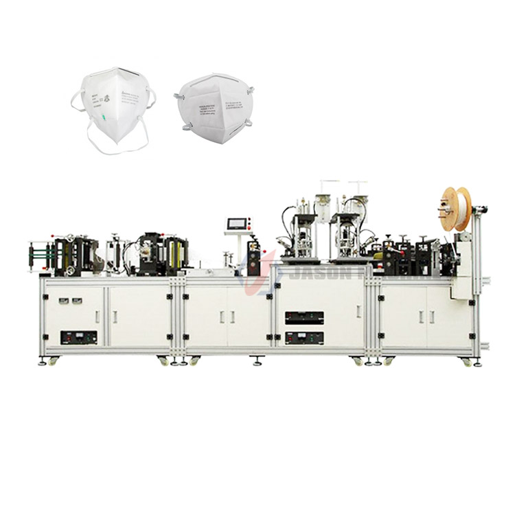 Full automatic n95 fish type face mask making machine