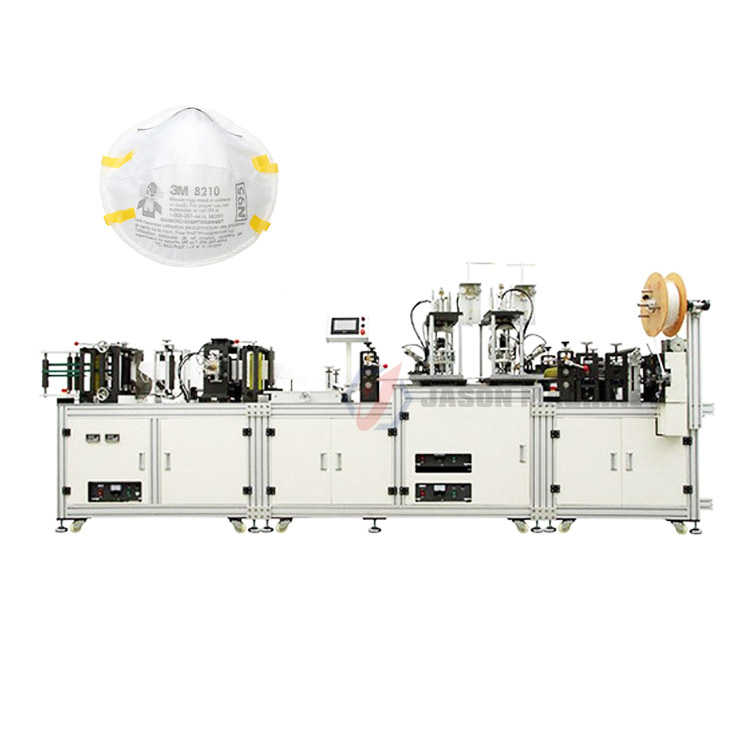Automatic surgical n95 respirator mask production line machine