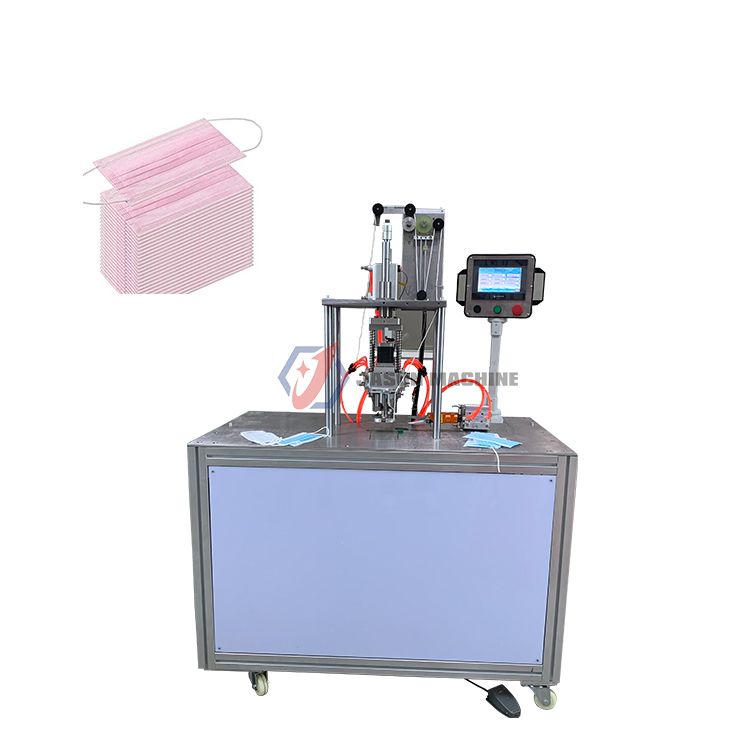 surgical face mask with ear loop ultrasonic ear loop cutting spot welding machine