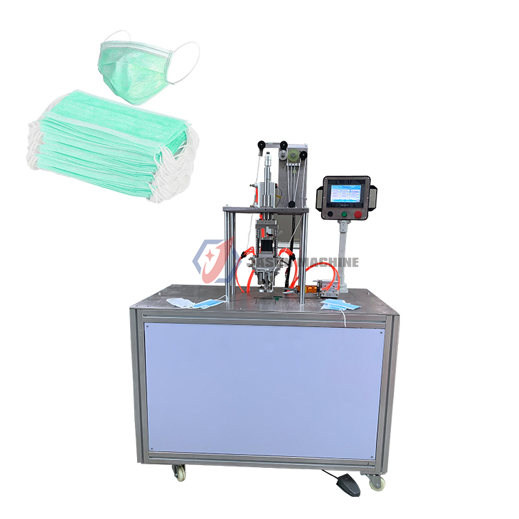 surgical 3 ply face mask ear loop cutting welding machine