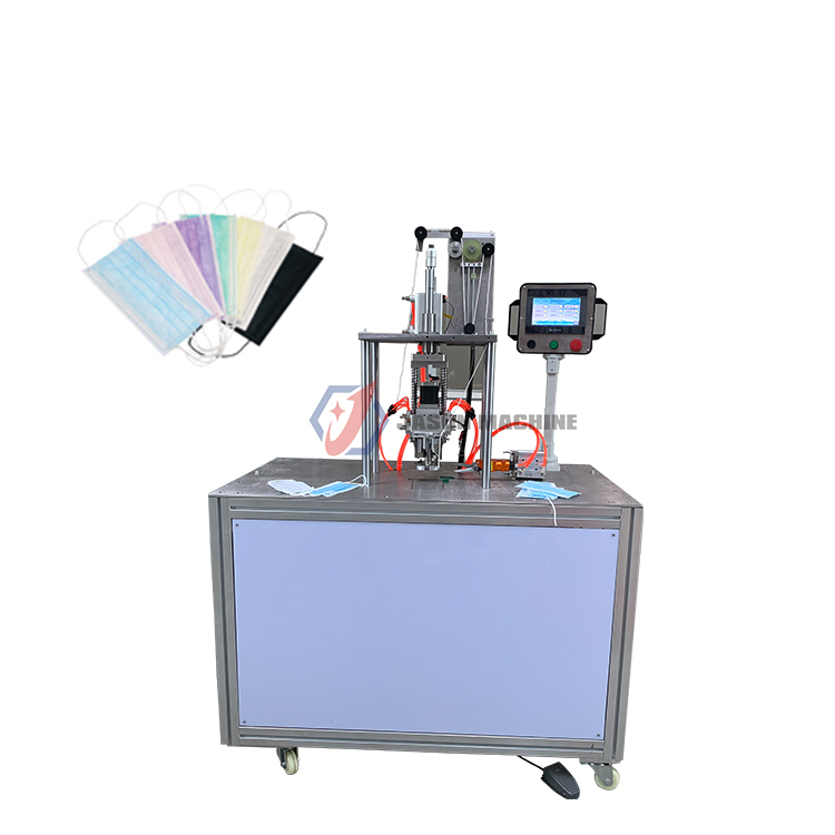 mask earloop welding and ear loop cutting machine