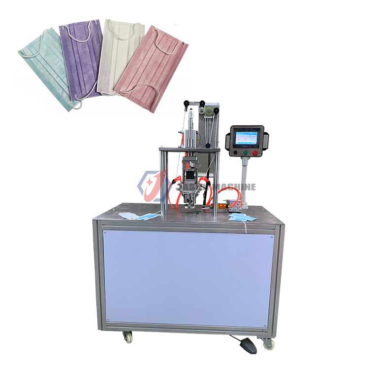 small ultrasonic non woven mask ear loop welding machine making machine