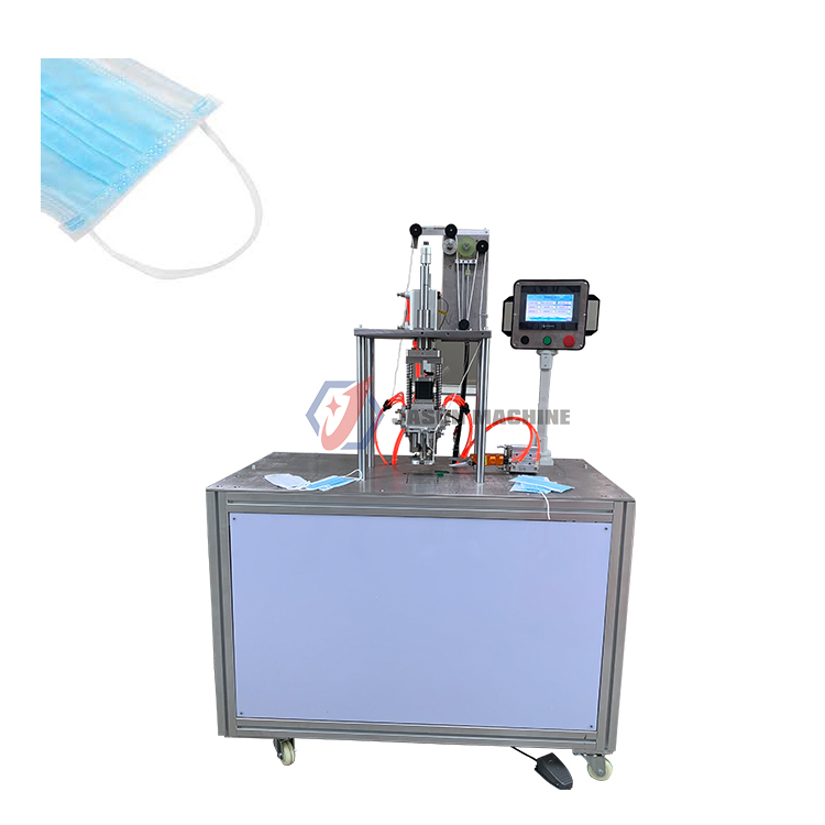 Multifunction surgical 3 ply face mask ear loop cutting welding machine
