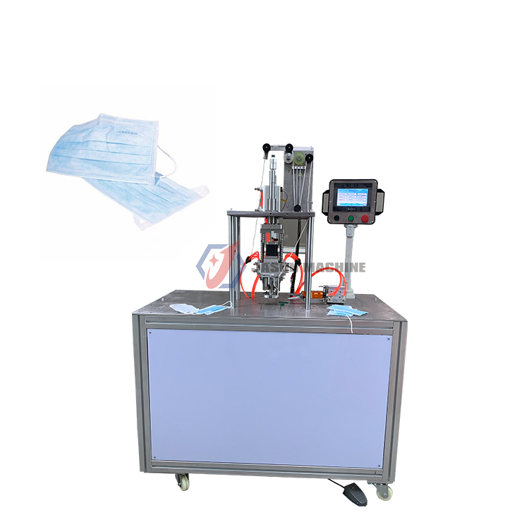 surgical 3ply face mask with earloop welding making machine