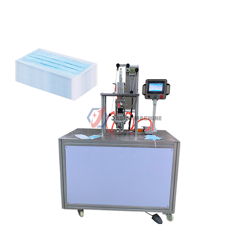 disposable 3 ply elastic earloop face mask welding machine