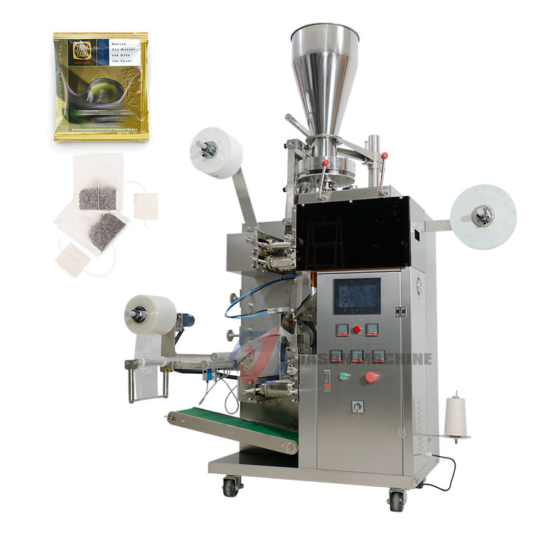 Automatic green black tea bag packing machine with inner filter paper and outer bag