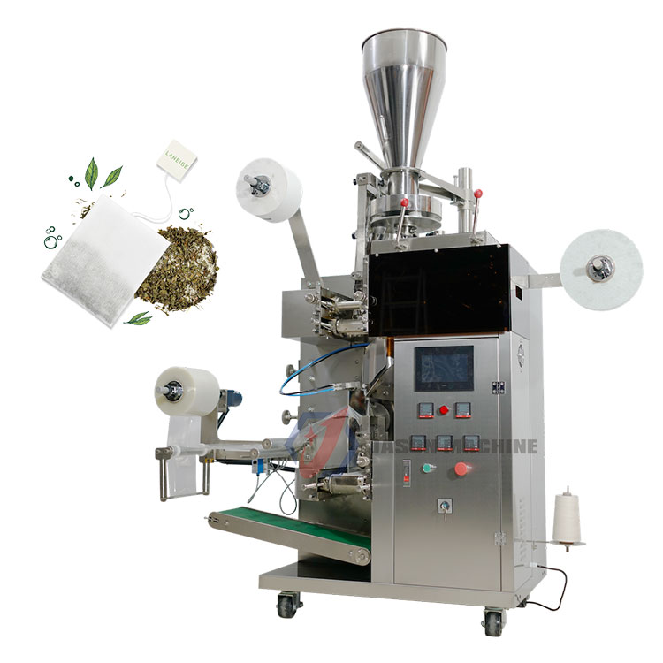 Automatic drink green tea bag with tag and string packaging machine