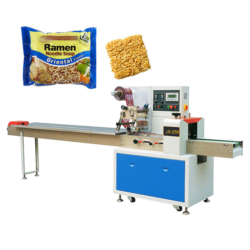 Automatic pillow plastic bag instant noodle packing machine