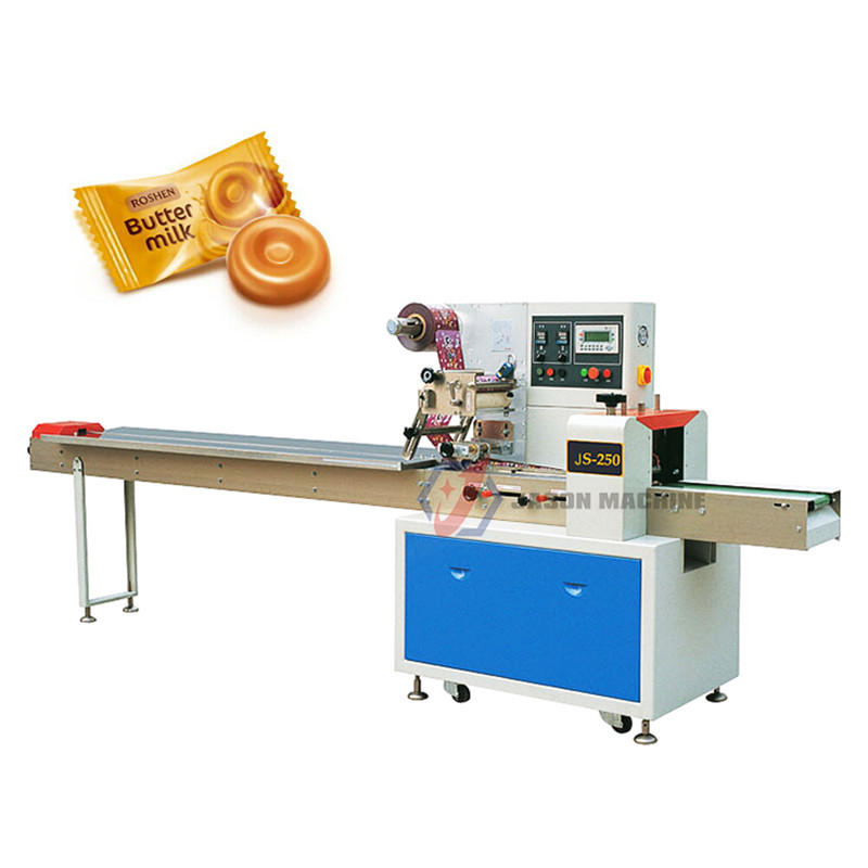 Multi Function Flow Pack Soft Candy Hard Candy Packing Machine
