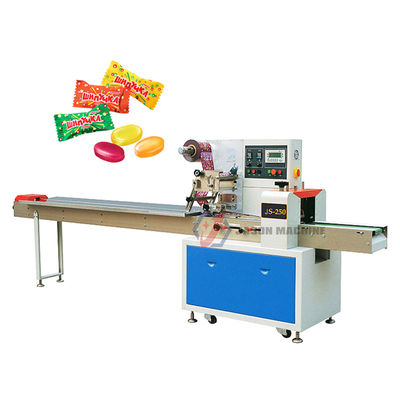 Sugar Hard Fruit Pillow Ice Candy Packing Machine Automatic for Candy Tablet Pillow Candy Machine